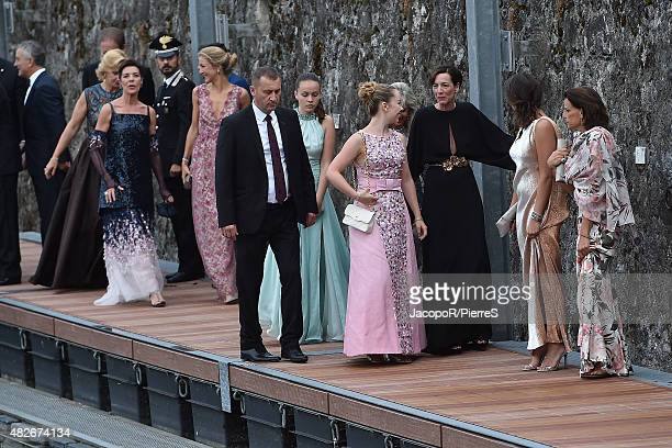 Princess Alexandra of Hanover, Princess Caroline of Hanover, Princess Stephanie of Monaco, Pauline Ducruet and Princess Caroline of Hanover are seen...