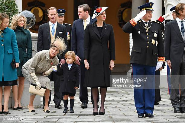 Princess Alexandra of HanoverPrincess Caroline of Hanover Sacha CasiraghiPrincess Charlene of Monaco and Prince Albert II of Monaco attend the Monaco...