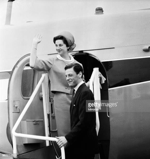 Princess Alexandra of Kent and Angus Ogilvy pictured after their wedding 24th April 1963