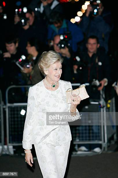 Princess Alexandra of Kent arrives for an 80th birthday party for former Prime Minister Margaret Thatcher October 13 2005 at the Mandarin Oriental...