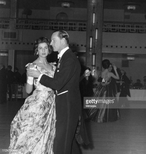 Princess Alexandra of Kent attends the Rose Ball at the Grosvenor House Hotel. 1st May 1959.