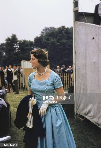 Princess Alexandra of Kent, the Honourable Lady Ogilvy, first cousin to Queen Elizabeth II, at the Ascot Week polo tournament, Smith's Lawn, Windsor...