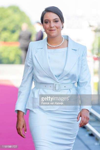 Princess Alexandra of Luxembourg arrive at the Philiarmonie for the concert on the National Day on June 23, 2019 in Luxembourg, Luxembourg.