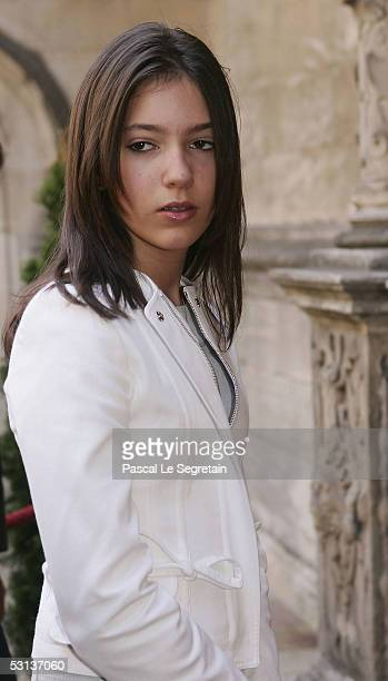 Princess Alexandra of Luxembourg arrives at the Cathedral of Luxembourg to attend a TeDeum as part of National day celebrations on June 23 2005 in...