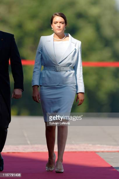 Princess Alexandra of Luxembourg arrives at the Philharmonie for the concert on the National Day on June 23 2019 in Luxembourg Luxembourg