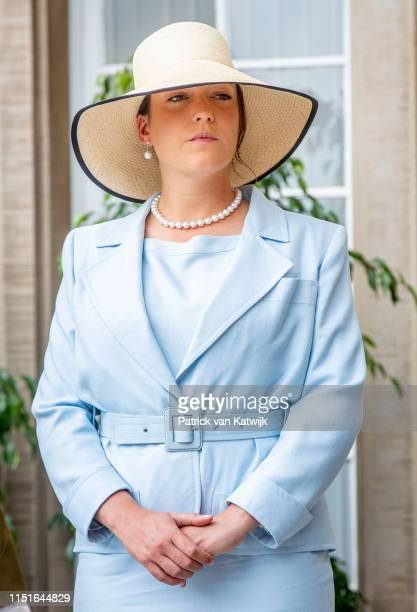 Princess Alexandra of Luxembourg attend the Te Deum thanksgiving mass in the Cathedral on the National Day on June 23 2019 in Luxembourg Luxembourg