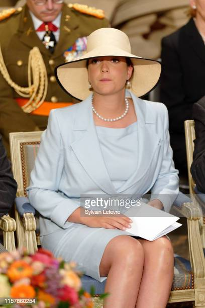 Princess Alexandra of Luxembourg attends the Te Deum thanksgiving mass in the Cathedral on the National Day on June 23, 2019 in Luxembourg,...