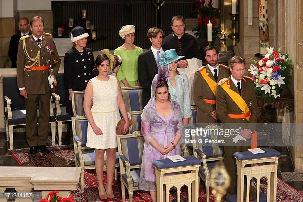 Princess Alexandra of Luxembourg Grand Duchess Maria Teresa of Luxembourg Grand Duke Henri of Luxembourg Princess Stephanie of Luxembourg Prince...