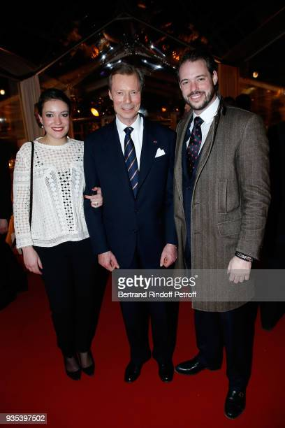 H Princess Alexandra of Luxembourg LLAARR GrandDuc Henri of Luxembourg and LLAARR le Prince Felix of Luxembourg attend the Reception given by LLAARR...