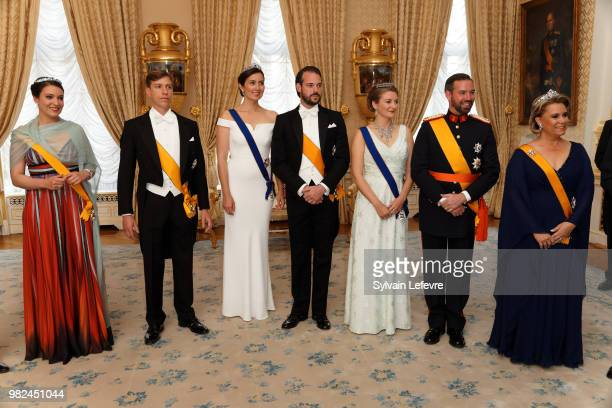 Princess Alexandra of Luxembourg Prince Louis of Luxembourg Princess Claire of Luxembourg and Prince Felix of Luxembourg Princess Stephanie Prince...
