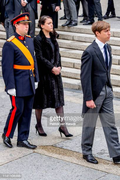Princess Alexandra of Luxembourg Prince Sebastien of Luxembourg and prince Louis of Luxembourg attend the funeral of Grand Duke Jean of Luxembourg on...