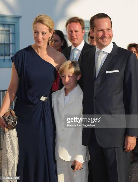 Princess Alexandra of SaynWittgensteinBerleburg Count Richard and Count Jefferson von Pfeil und KleinEllguth arrives to attend the wedding of Tatiana...