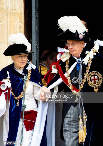 Princess Alexandra of the United Kingdom and Richard Duke of Gloucester at St George's Chapel on June 17, 2019 in Windsor, England.