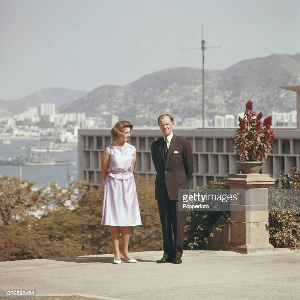 Princess Alexandra pictured together with Governor of Hong Kong Robert Black in the grounds of Government House in the Central district of Hong Kong...