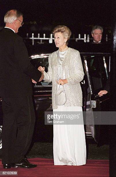 Princess Alexandra President Of The Star And Garter Home Attending The 'celebration Ball' At The Savoy Hotel In London The Princess Is Wearing A Long...