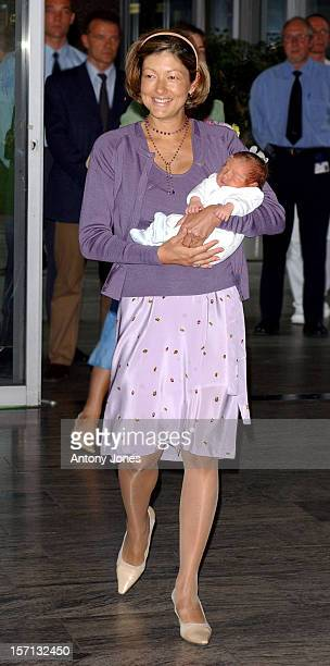 Princess Alexandra Prince Joachim Of Denmark Leave The 'Rigs Hospital' In Copenhagen With Their FiveDayOld Baby Son Also Also Accompanied By Their...