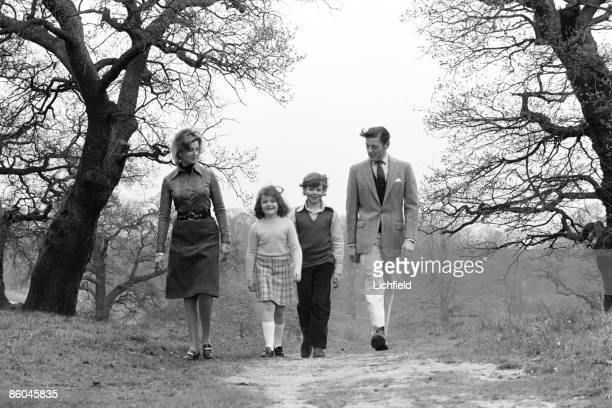 HRH Princess Alexandra The Hon Angus Ogilvy Mr James Ogilvy and Miss Marina Ogilvy walking in Richmond Park London near their home at Thatched House...