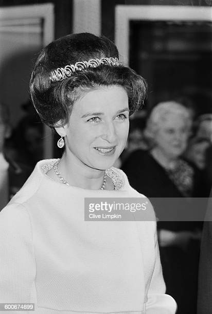 Princess Alexandra, The Honourable Lady Ogilvy, at the premiere of the film 'Half a Sixpence', London, 21st December 1967.