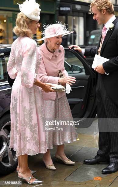Princess Alexandra, The Honourable Lady Ogilvy attends Flora Alexandra Ogilvy and Timothy Vesterberg's marriage blessing at St James's Piccadilly on...