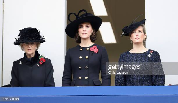 Princess Alexandra The Honourable Lady Ogilvy Catherine Duchess of Cambridge and Sophie Countess of Wessex during the annual Remembrance Sunday...