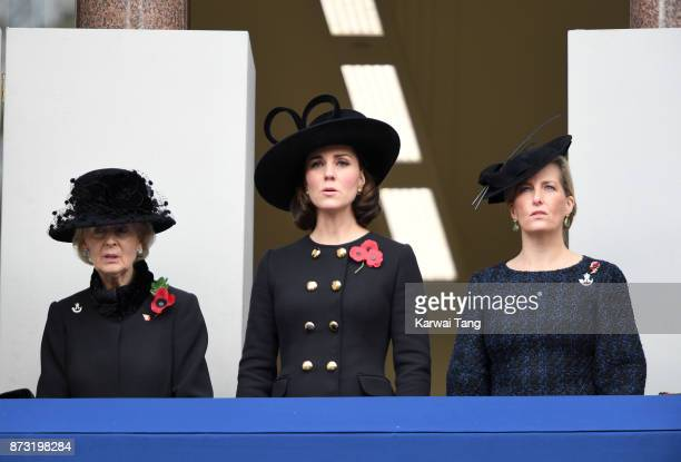 Princess Alexandra, The Honourable Lady Ogilvy, Catherine, Duchess of Cambridge and Sophie, Countess of Wessex during the annual Remembrance Sunday...