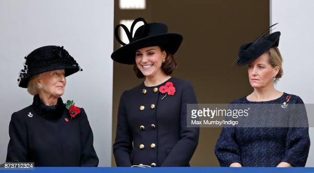 Princess Alexandra The Honourable Lady Ogilvy Catherine Duchess of Cambridge and Sophie Countess of Wessex attend the annual Remembrance Sunday...