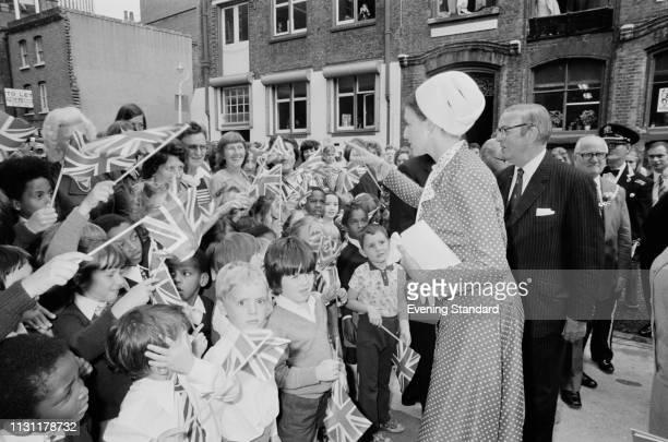 Princess Alexandra, The Honourable Lady Ogilvy, meeting fans, UK, 3rd September 1975.