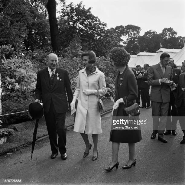 Princess Alexandra, The Honourable Lady Ogilvy with English financier Edmund Leopold de Rothschild at the Chelsea Flower Show in London, UK, 27th May...