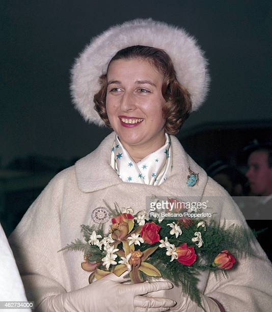 Princess Alexandra visiting an old peoples' welfare centre in Palmer's Green London on 7th March 1961