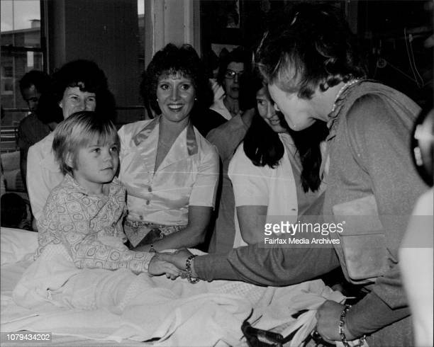 Princess Alexandra Visits Childrens HospitalPrincess Alexandra chats with children in the William Stewart Ward at the Royal Alexandra Hospital for...