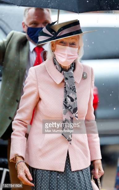 Princess Alexandra wears a face mask as she visits the Guide Dogs for the Blind Association to open their new south west regional centre and...
