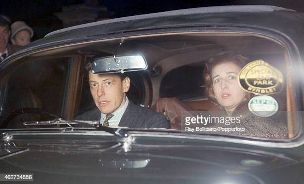 Princess Alexandra with her fiance Angus Ogilvy leaving church in Iver Buckinghamshire on 2nd December 1962 This image is one of a series taken by...