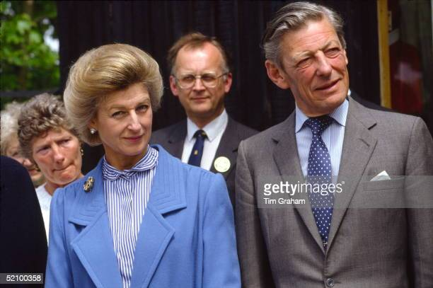 Princess Alexandra With Her Husband The Honourable Angus Ogilvy Visiting Leeds Castle
