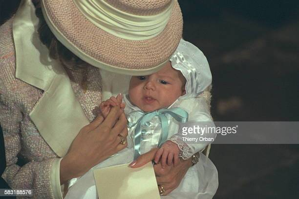 Princess Alexandra with her son Nicolai the Danish sovereigns' first grandson