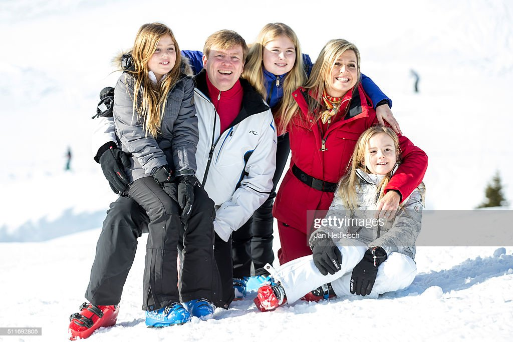 The Dutch Royal Family Hold Annual Photo Call In Lech : Nyhetsfoto