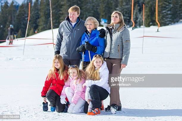 Princess Alexia, King Willem-Alexander of the Netherlands Princess Ariane, Princess Beatrix of the Netherlands, Princess Catharina-Amalia and Queen...