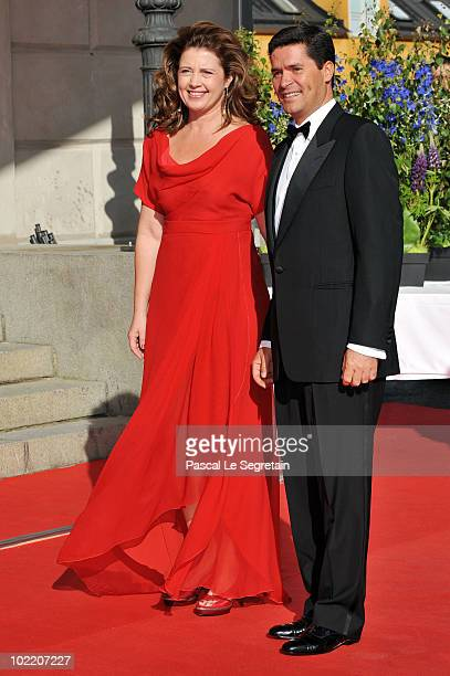 Princess Alexia Mrs Morales and Mr Carlos Morales Quintana attend the Government PreWedding Dinner for Crown Princess Victoria of Sweden and Daniel...