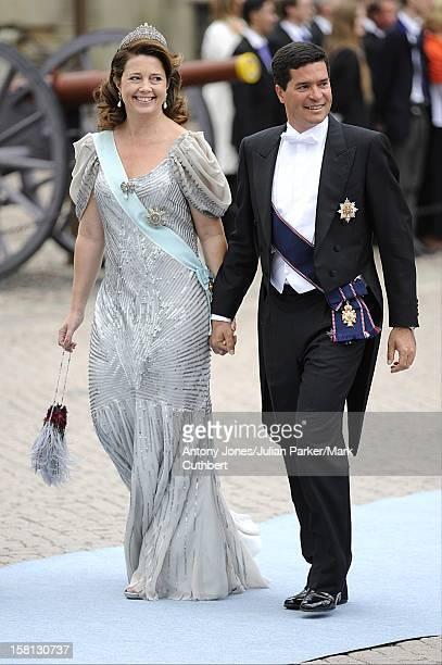 Princess Alexia Of Greece And Carlos Morales At The Wedding Of Crown Princess Victoria Of Sweden And Daniel Westling At Stockholm Cathedral