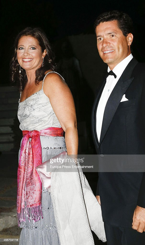 Princess Alexia of Greece and Carlos Morales attend private dinner to celebrate the Golden Wedding Anniversary of King Constantine II and Queen Anne Marie of Greece at Yacht Club on September 18, 2014 in Athens, Greece.