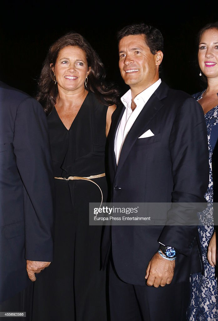 Princess Alexia of Greece and Carlos Morales attend the Golden Wedding Anniversary of King Constantine II and Queen Anne Marie of Greece at Acropolis Museum on September 17, 2014 in Athens, Greece.