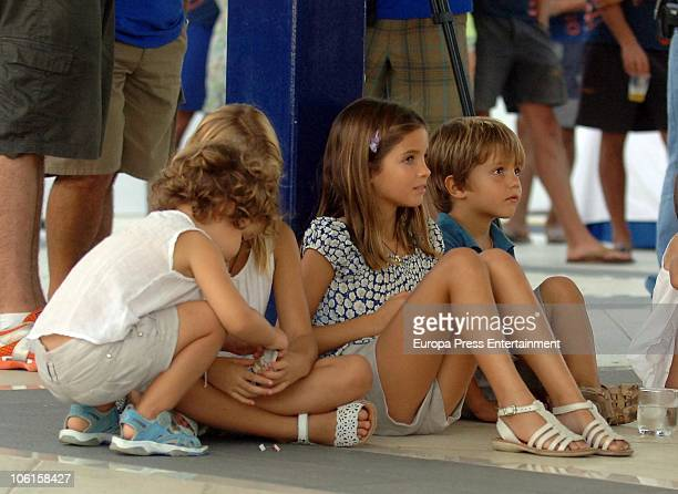 Princess Alexia Of Greece and Carlos Morales' children Amelia Ana Maria Arrieta and Carlos are seen sighting on October 24 2010 in Lanzarote Spain