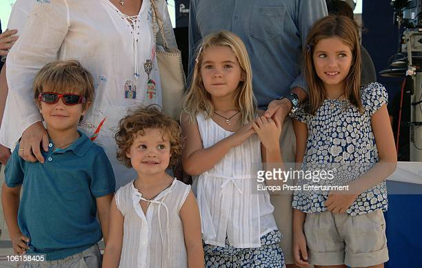 Princess Alexia Of Greece and Carlos Morales' children Carlos Amelia Ana Maria and Arrieta are seen sighting on October 24 2010 in Lanzarote Spain