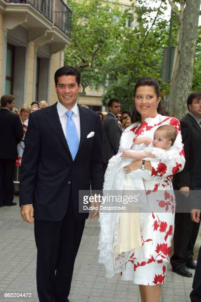 Princess Alexia of Greece and Carlos Morales with their daughter Arrieta | Location Barcelona Spain