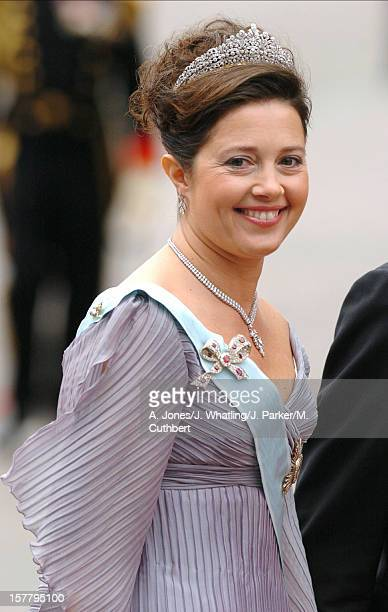 Princess Alexia Of Greece Attends The Wedding Of Crown Prince Frederik Mary Donaldson At The Vor Frue Kirke Catherdal In Copenhagen