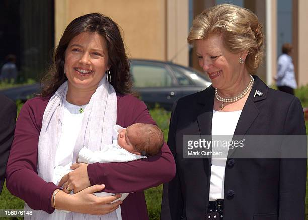 Princess Alexia Of Greece Carlos Morales Quintana Leave The Contro Medico Teknon Hospital In Barcelona With Their New Baby Daughter AnnaMaria...