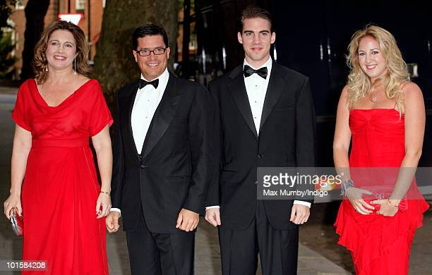 Princess Alexia of Greece Carlos Morales Quintana Prince Philippos of Greece and Princess Theodora of Greece attend King Constantine of Greece's 70th...