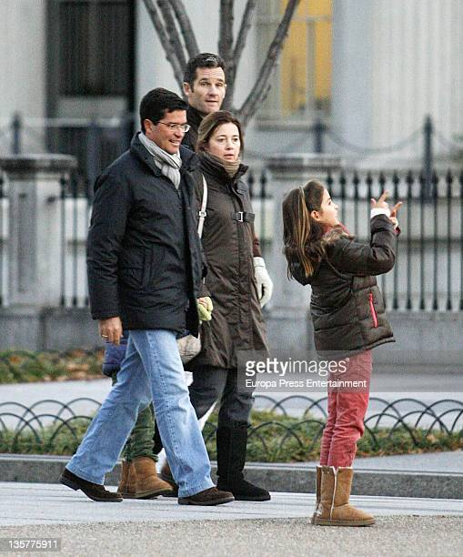 Princess Alexia of Greece her husband Carlos Morales Duke of Palma Inaki Urdangarin and Arrieta Morales are seen going for a walk at the White House...
