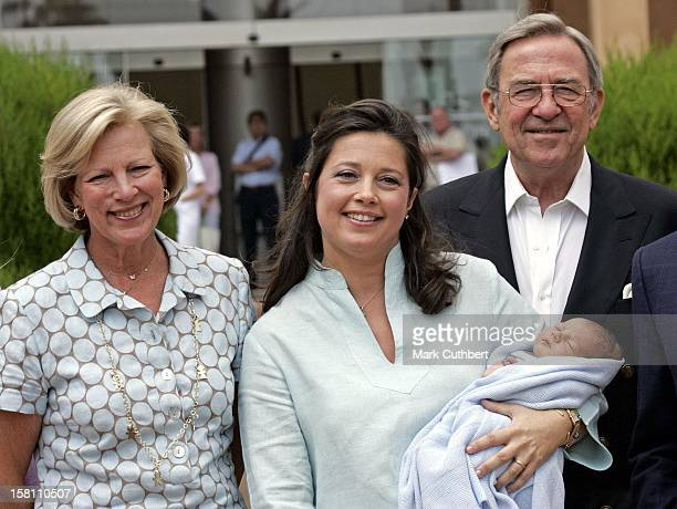 Princess Alexia Of Greece Leaves The Teknon Clinic In Barcelona With Her New Baby Carlos Accompanied By Husband Carlos Morales Quintana Children...