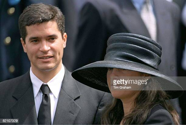 Princess Alexia Of Greece With Her Fiancee, Carlos Morales Quintana, Attending The Memorial Service For King Hussein Of Jordan At St Paul's...