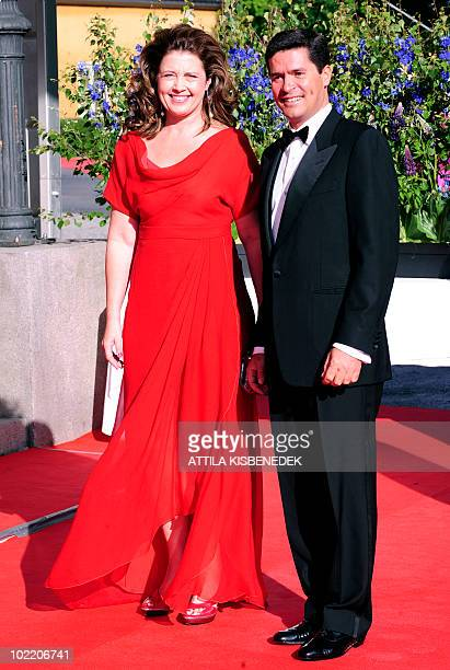 Princess Alexia of Greece with her husband, architect Carlos Morales Quintana arrive in front of the Eric Ericson Hall of Skeppsholen in Stockholm on...